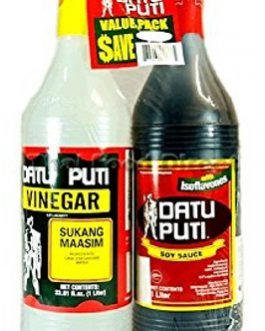 Datu Puti Vinegar and Soy Sauce 2 x 1 L