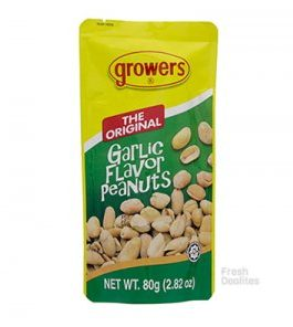 Growers Garlic Flavor Nuts 80g