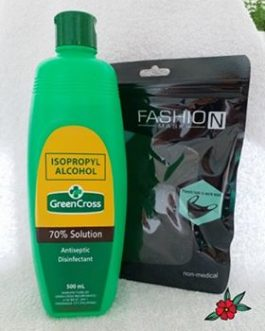 Alcohol 500 ml 70% plus breathable Face Mask
