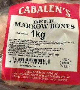 Cabalen Beef Marrow Bones 1kg