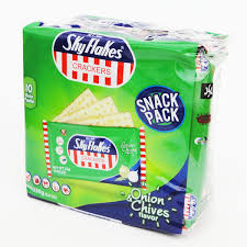 SKYFLAKES Biscuits ONION&CHIVES-10's Single Pack