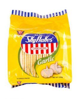 SKYFLAKES Biscuits GARLIC – 10's Single Packs