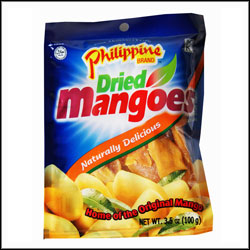 Philippines Brand Dried Mangoes 100g